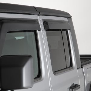 2019-2020 Jeep  Gladiator JT, All, Ventguard, 4pc, Front, Rear Doors, Smoke, Mounts With 3M Double Side Acrylic Tape