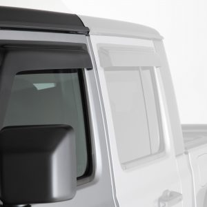 2019-2020 Jeep  Gladiator JT, All, Ventguard, 2pc, Front Doors,  Smoke, Mounts With 3M Double Side Acrylic Tape