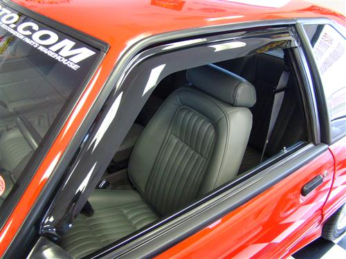 1983-1993 FORD MUSTANG ALL MODELS,WINDOW VENTGARD, 2 PC., SMOKE