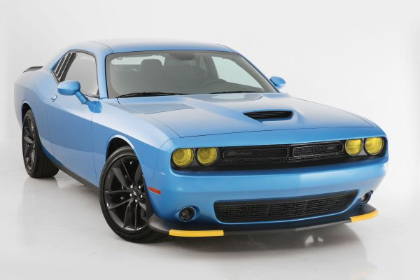 2015-2019 Dodge Challenger, All, Headlight Cover, 4 Pc., Transparent Yellow, Except Hellcat and Vehicles Equipped with Headlight Air Intake, Mounts By Friction Fit