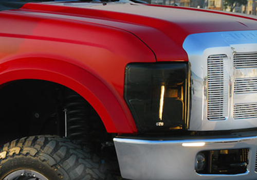 2011-2015 FORD F-250,350 ALL MODELS,HEADLIGHT COVER, 2 PC., SMOKE