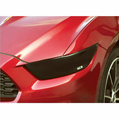 2015-2016 FORD MUSTANG ALL MODELS,HEADLIGHT COVER, 2 PC, SMOKE
