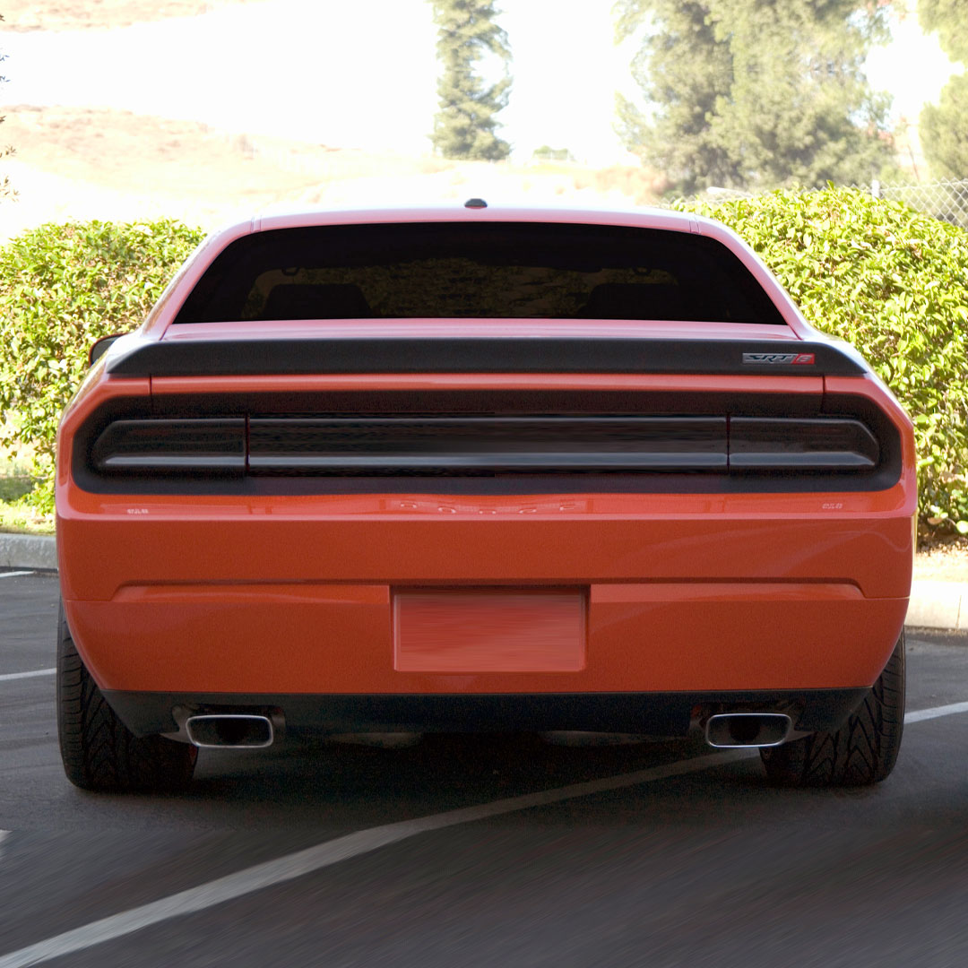 2008 2014 Dodge Challenger All Black Out Panel Taillight Cover Kit 3 Pc Smoke Gt Styling