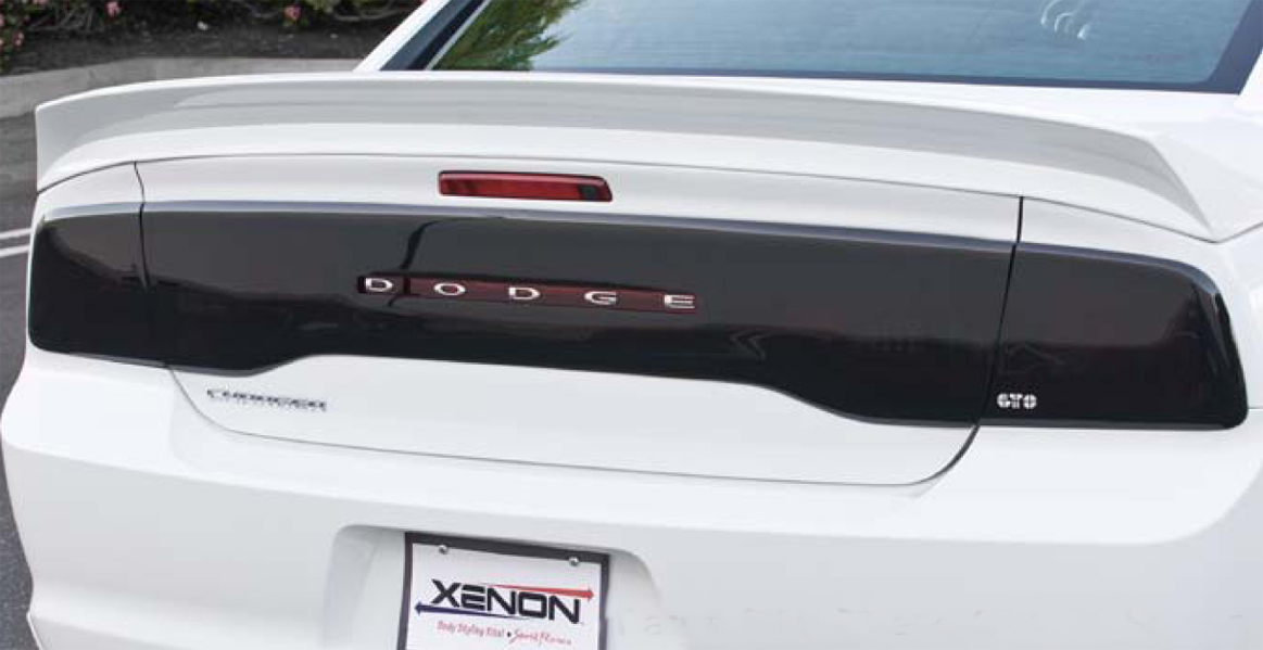2011-2014 DODGE CHARGER ALL MODELS,TAILLIGHT COVER, 2 PC., SMOKE