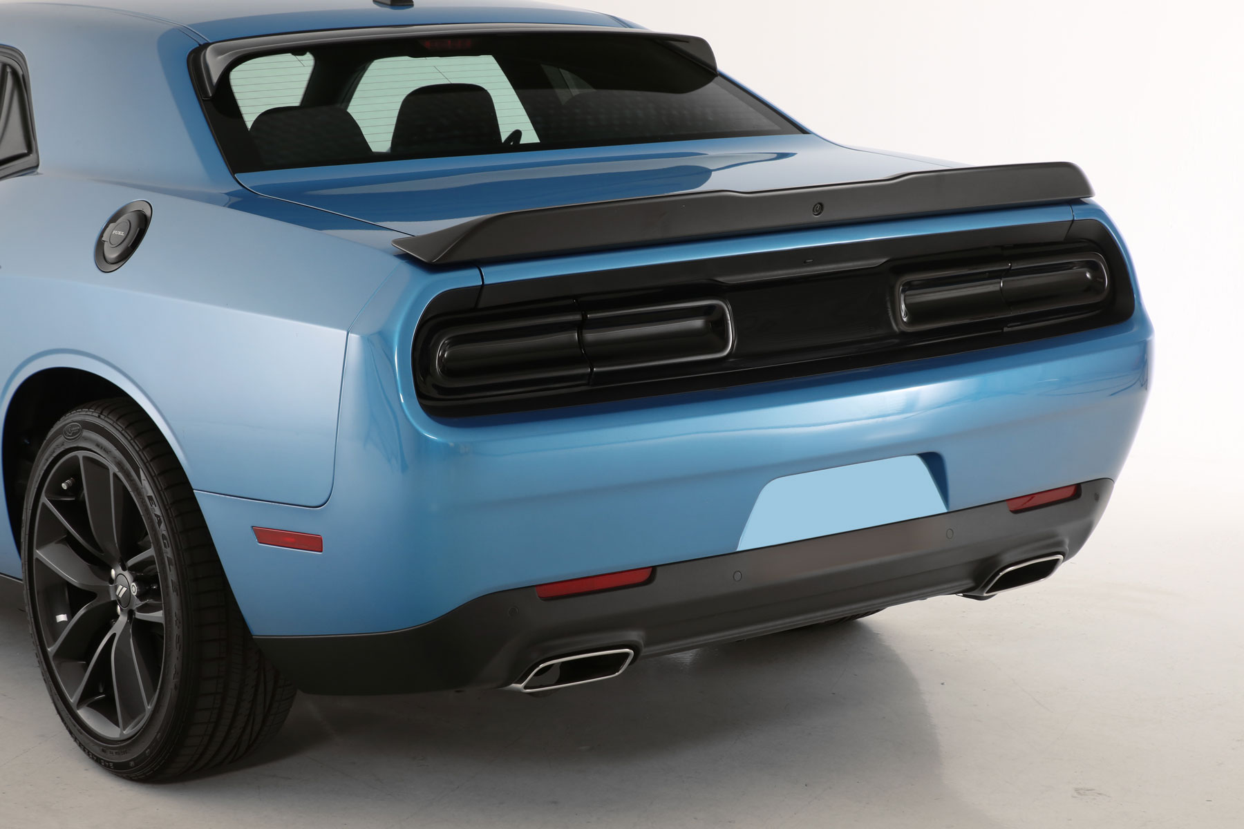 2015 2020 Dodge Challenger All Rear Black Out Kit 3 Pc Smoke Mounts With 3m Dual Lock Gt Styling