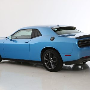 2008-2020 Dodge Challenger, All, 3 Panel Louvered Quarter Window Covers, 2 Pc., Smoke, Mounts With 3M Double Side Acrylic Tape