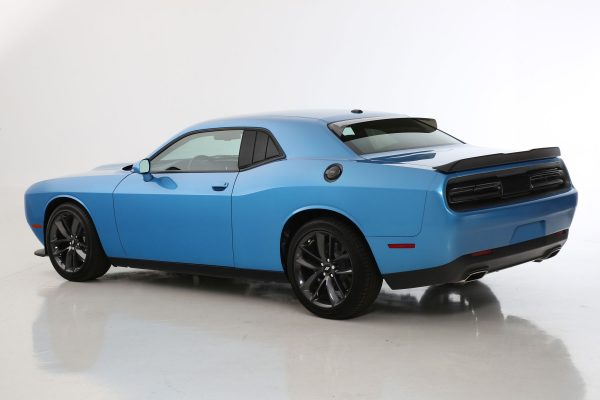 2008-2019 Dodge Challenger, All, 3 Panel Louvered Quarter Window Covers, 2 Pc., Smoke, Mounts By 3M Double Side Tape