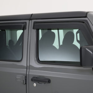 2018-2020 Jeep  Wrangler JL/JLU, All, Ventguard, 4pc, Front, Rear Doors Carbon Fiber Look, Mounts With 3M Double Side Acrylic Tape