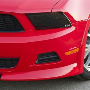 2010-2012 FORD MUSTANG ALL EXCEPT HID LIGHT OPTION,HEADLIGHT COVER, 2 PC., SMOKE