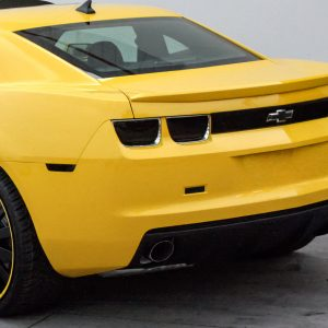 Chevrolet Camaro, Black Out Panel, with Bow Tie Cut Out, 1 Piece, Smoke