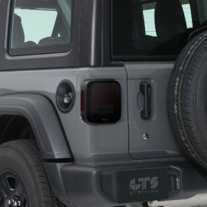 2018-2020 Jeep  Wrangler JL/JLU, All With LED Option, Taillight Cover, 2pc, Smoke, Mounts With 3M Dual Lock