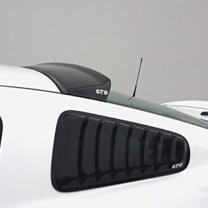 2005-2014 FORD MUSTANG ALL MODELS,LOUVERED QUARTER WINDOW COVER, 2 PC., SMOKE